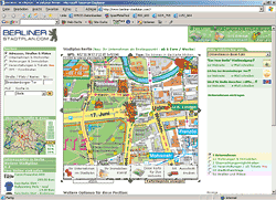 Screenshot www.berliner-stadtplan.com (bis Juli 2007: pharus plan media)